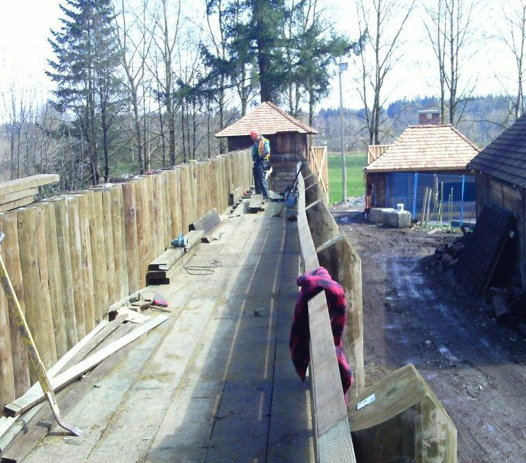 Fort Langley Palisade Repair and Modification